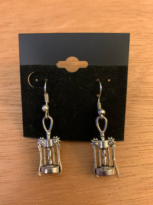 Corkscrew Wine Opener Earrings