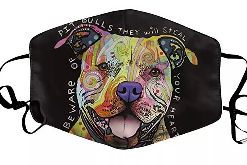 Pit Bull Face Cover