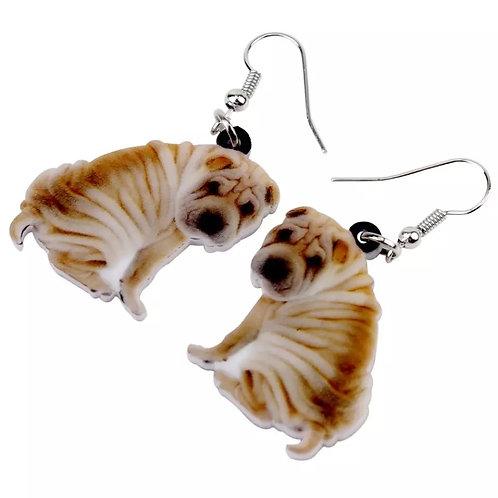 Shar Pei Earrings