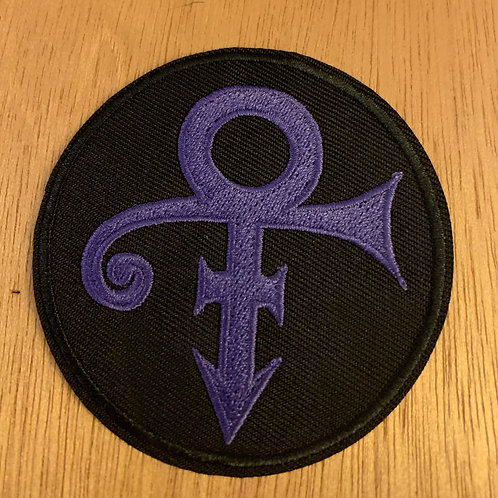 Prince Round Iron on Patch
