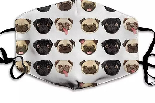 Pug Themed Face Cover