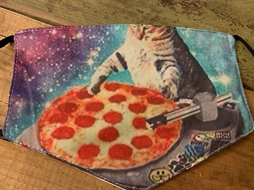 DJ Pizza Cat Face Cover