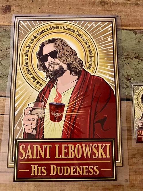 Saint Lebowski iron on Design