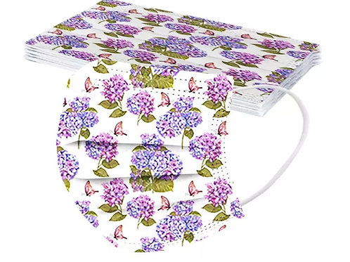 10 Pack of Floral Disposable Face Covers