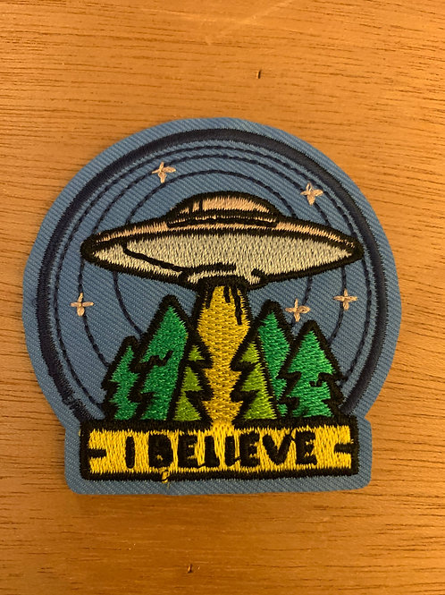 I Believe Alien UFO Iron On Patch