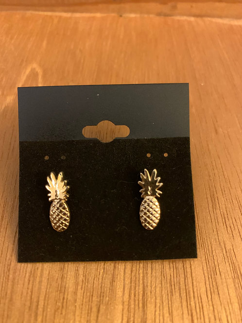 Pineapple Earrings- Gold Color