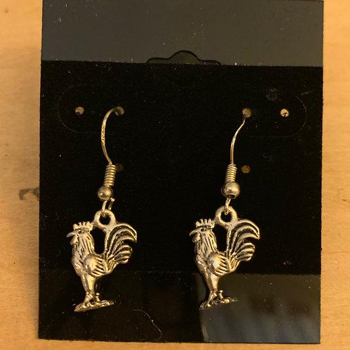 Rooster Earrings