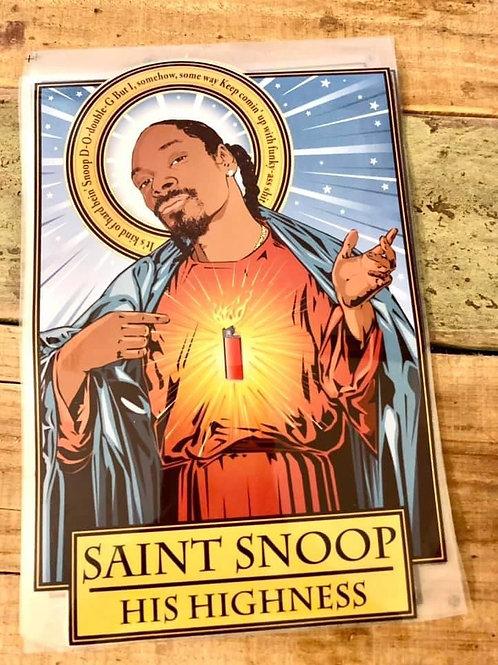 Saint Snoop Iron on Design