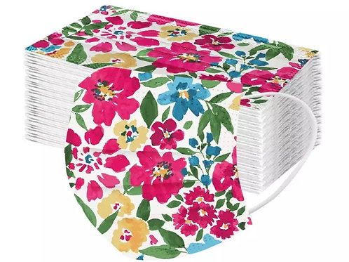 10 Pack of Floral Disposable Face Cover