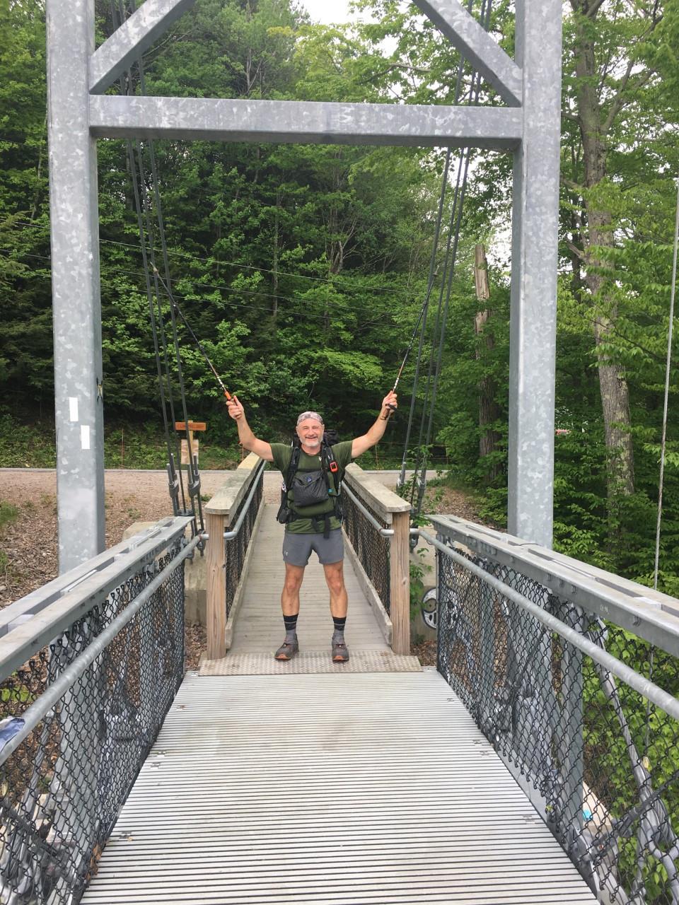 Thru-Hiker: Winooski suspension bridge in Richmond