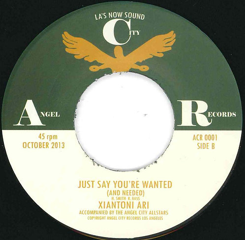 "XIantoni Ari ""just say you're wanted and needed"""