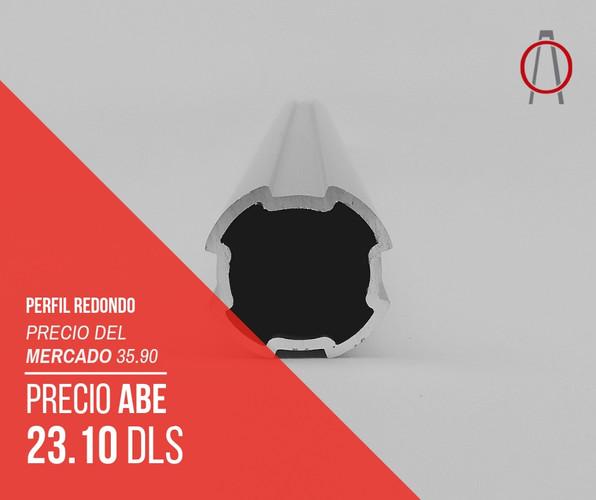 Perfil de Aluminio Redondo Abe Trade Sol