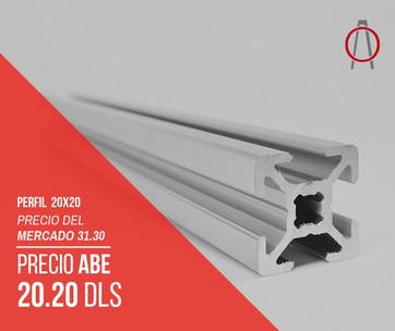 Perfil de Aluminio 20x20 Abe Trade Solut