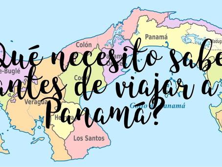 Preparativos viaje a Panamá