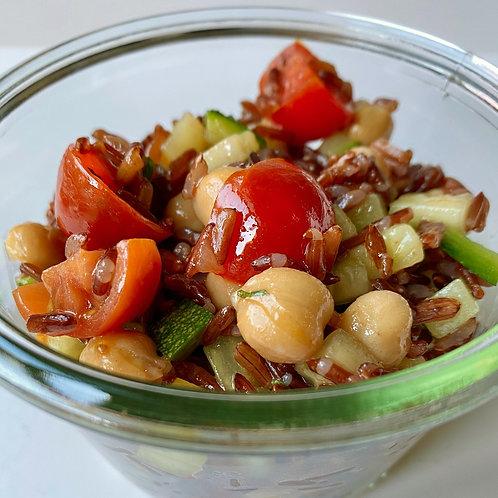 Riso rosso integrale con Verdure croccanti