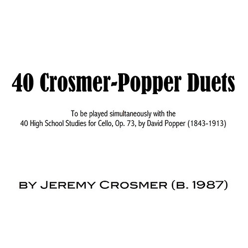Crosmer-Popper Duets Digital Sheet Music