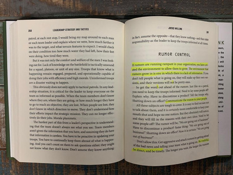 Rumor Control and Clear Guidance, pages 261-264