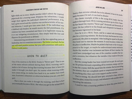 When to Quit and Communication, pages 246-261
