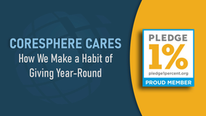 CoreSphere Cares and joins Pledge 1% Movement