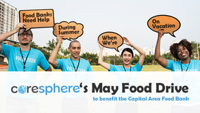 CoreSphere's May Food Drive for the Capital Area Food Bank