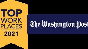 The Washington Post Names CoreSphere a 2021 Top Washington-Area Workplace