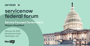 CoreSphere at ServiceNow Federal Forum 2020