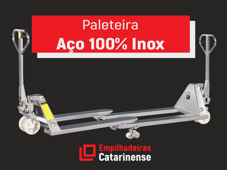 Paleteiras Aço 100% Inox