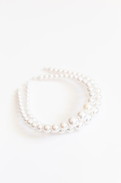 White Pearl Strand Headband