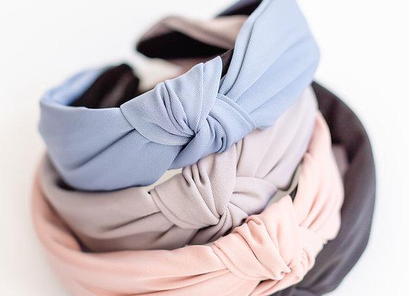 Solid Top Knot Headband