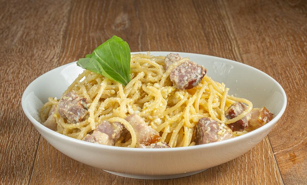 Spaghetti/Penne alla carbonara