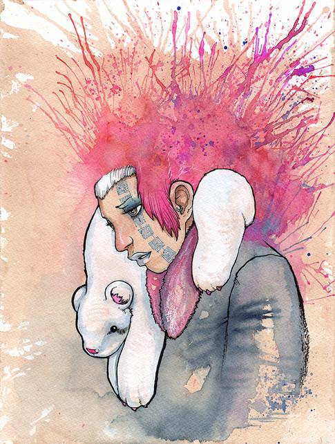 Cody Vrosh Art Coffee Creatures Polarity Bear