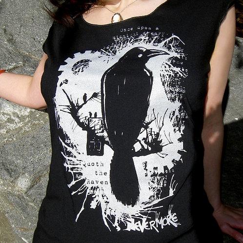 Nevermore Raven Scoop Neck T-shirt