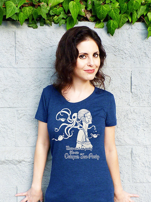 Octopus Tea Party Women's T-shirt