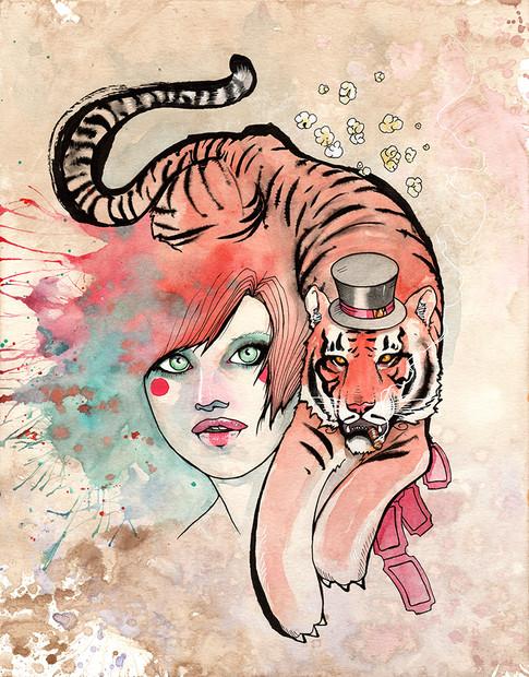 Cody Vrosh Art Coffee Creatures Striped Ringleader