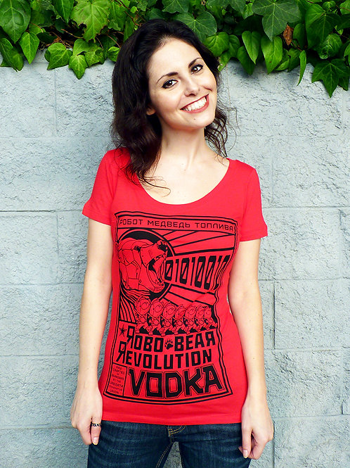 Robo Bear Revolution Vodka Women's T-shirt