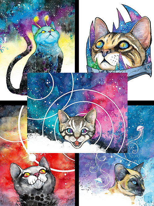Meowter Space Mini Print Full Set