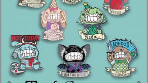 Teeth Creatures Enamel Pin Kickstarter