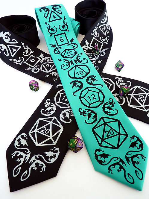High Roller Dice and Dragons Necktie