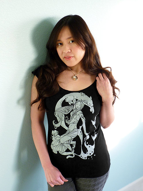 Coffee Creatures Scoop Neck T-shirt