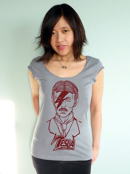 Tesla Stardust Scoop Neck T-shirt
