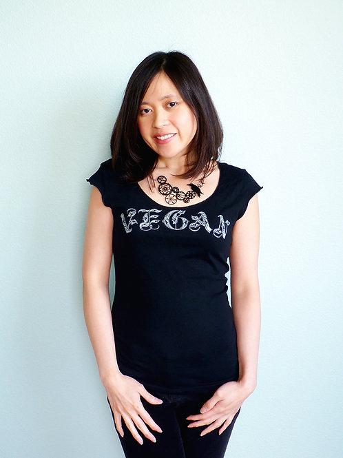 Vegan Scoop Neck T-shirt