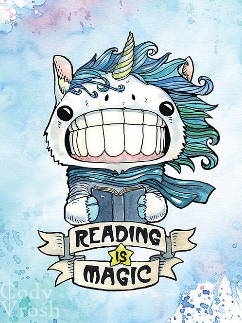 Reading is Magic Unicorn