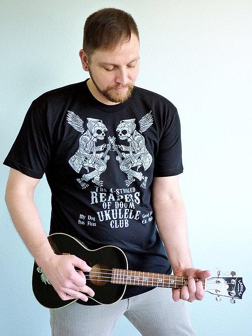 The 4-Stringed Reapers of Doom Ukulele Club T-shirt
