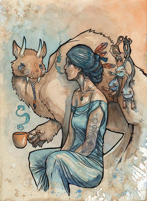 Cody Vrosh Art Coffee Creatures The Tea Drinkers