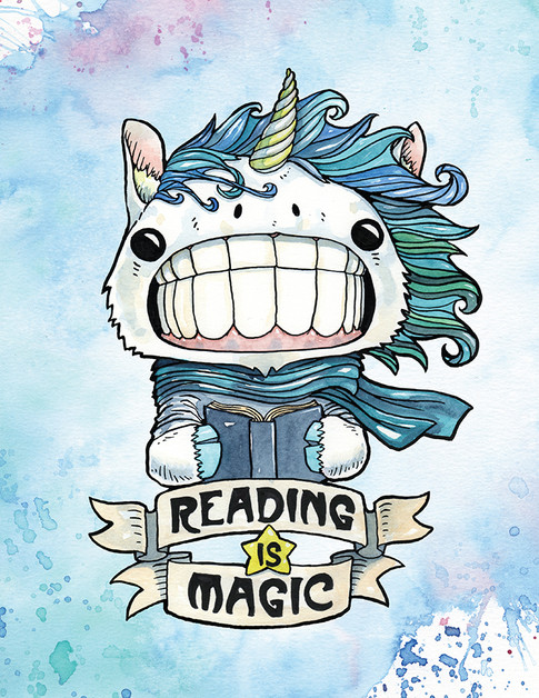 Cody Vrosh Teeth Creatures Reading is Magic Unicorn