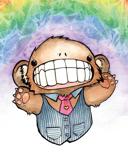 Cody Vrosh Teeth Creatures Rainbow Bear
