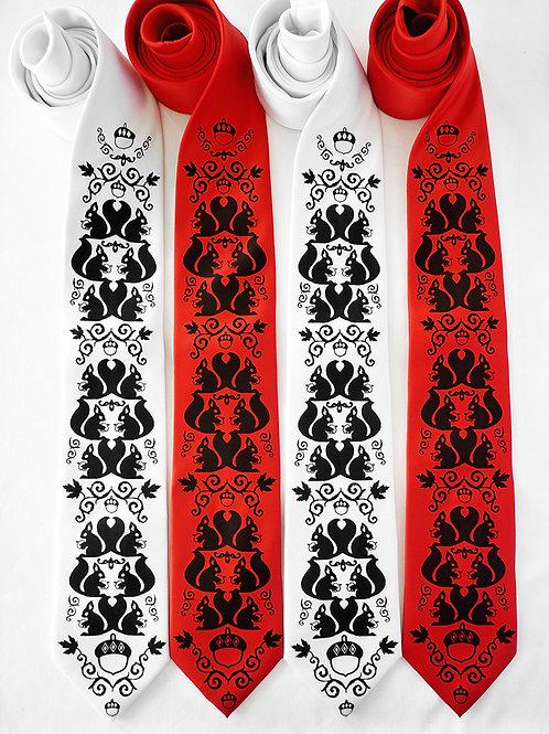 Squirrel Damask Necktie