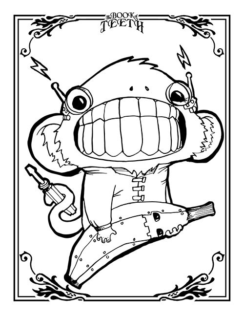 Cody Vrosh Coloring Book Pages Mad Scien