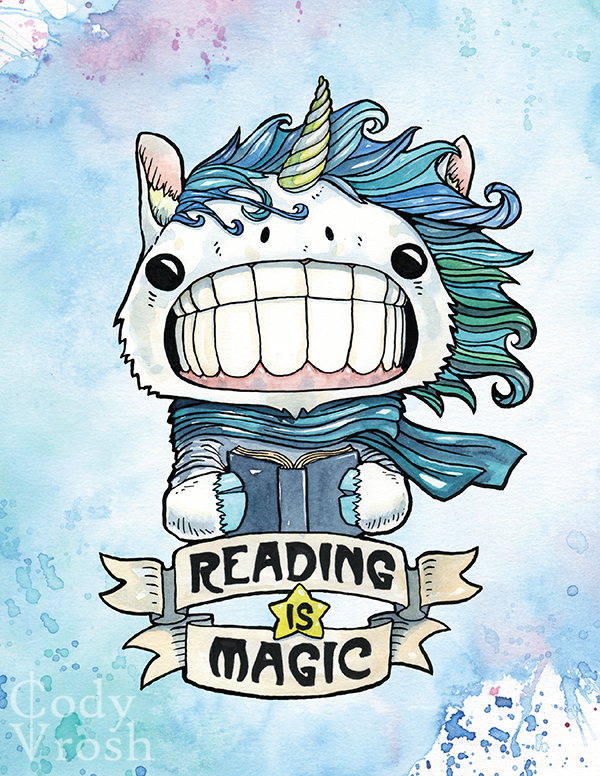 Reading is Magic Unicorn Cody Vrosh