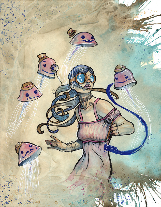 Cody Vrosh Art Coffee Creatures The Jellyfish Painter